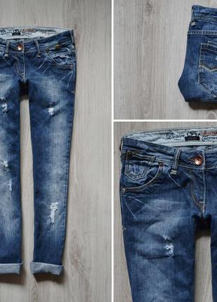 Крутые бойфренды от river island - джинсы-бойки с потёртостями