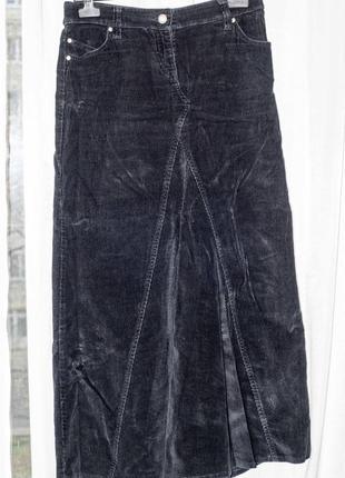 Длинная вельветовая юбка