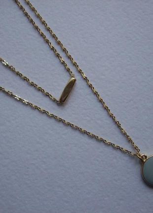 Колье ожерелье подвеска кулон цепочка круг медальон