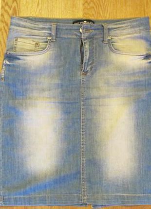 Юбка джинсовая женская -philipp plein- на 48-50 размер