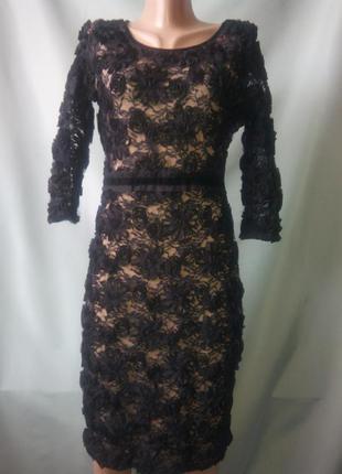 Шикарное вечернее гипюровое платье