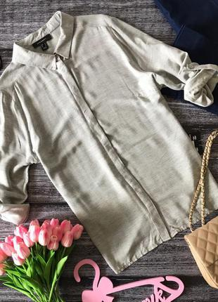 Актуальная рубашка неформального фасона с лямками на рукавах    bl1621     atm