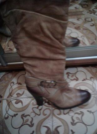 Кожаные ботинки в стиле casual