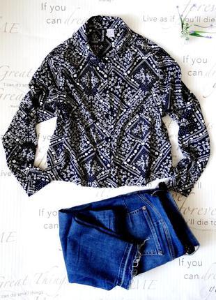 Трендовая укороченная рубашка h&m.