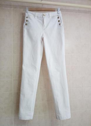 Прямые джинсы молочного цвета от massimo dutti xs