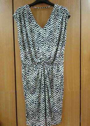 Оригинальное трикотажное эластичное платье  туника размер 16-18 next