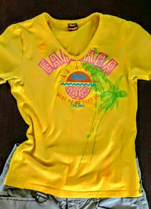 Яркая футболка с коротким рукавом,молодежная одежда