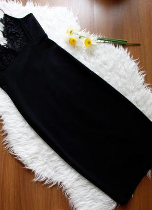 Платье-футляр, по фигуре, на бретелях, с кружевом на груди, юбка карандаш, вечернее