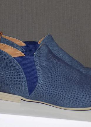 Кожаные фирменные ботинки челси 38 р roberto santi