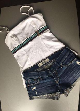 Джинсовые шорты abercombie&fitch, размер хs