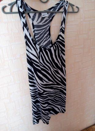Черно белая майка борцовка зебра