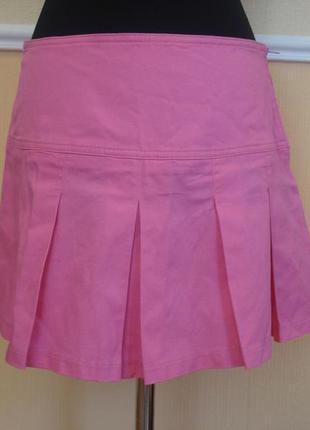 Летняя джинсовая юбка в складку