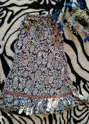 Длинная юбка с воланом new look