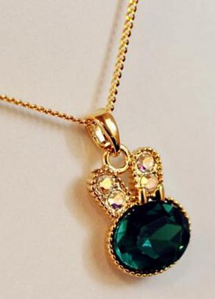 Ожерелье с подвеской милый зайчик
