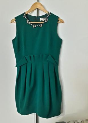 Супер платье изумрудное♡
