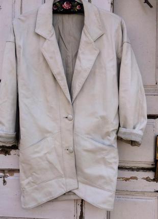 Белое пальто бойфренд armani jeans