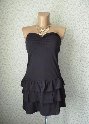 Черное платье h&m бюстье casual размер m италия