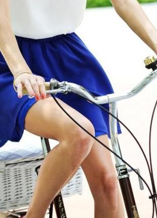 Шелковая голубая юбка от hallhuber 34