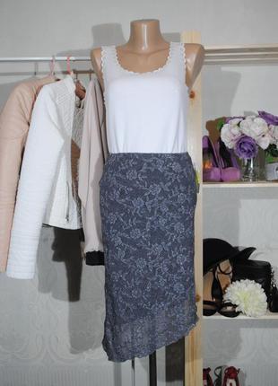 Скидка 30% на все вещи! кружевная юбка-миди с ассиметричным подолом lipsy размер s/m
