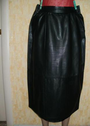 Vip.отличная юбка из натуральной мягенькой  кожи юбка кожаная юбка кожаная юбка
