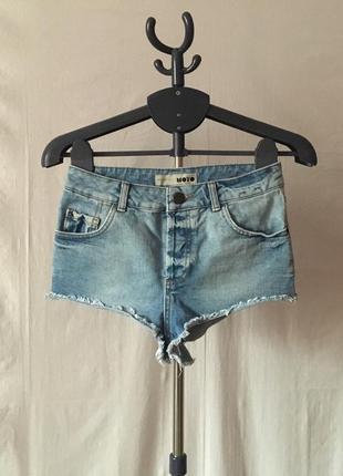 Крутые джинсовые высокие шорты
