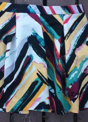Яркая юбка h&m