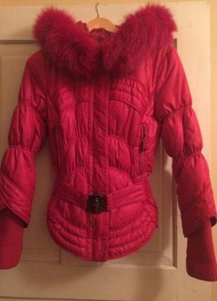 Яркий теплый пуховик -куртка