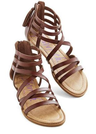 Сандалии gladiators кожа коричневые