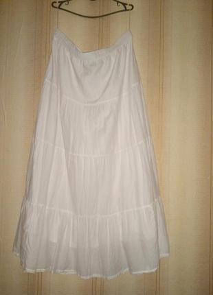 Батистовая юбка в пол большой рр