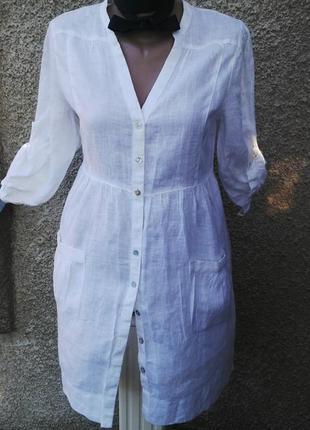 Льняная блуза,туника,рубаха, платье, monsoon,лен 100%