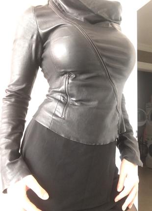 Эксклюзивная кожаная куртка из кожи ягнёнка