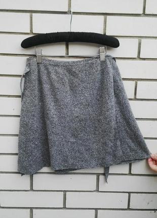 Шелковая юбка на запах top shop