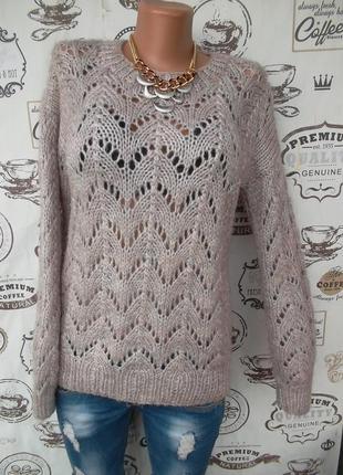 Очень красивый ажурный свитерок, новый с биркой, размер м, уп 15 грн