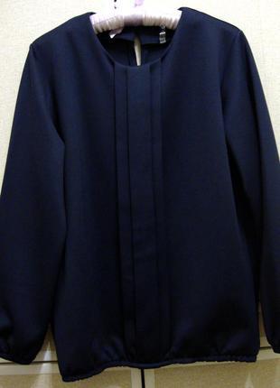 Блуза синяя 46-48(l)р classic fashion