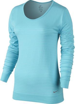 Женская футболка лонгслив nike seamless dfk epic crew р. s,м оригинал
