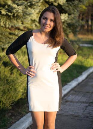 Черно-белое платье reserved