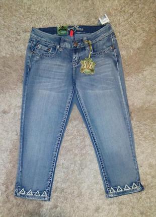 Джинсовые бриджи новые respect jeans