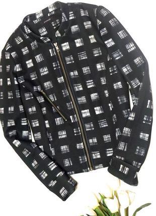 Короткий блейзер/ пиджак с принтом от promod (огромный выбор пиджаков)