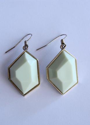 Серьги - камни кристаллы h&m