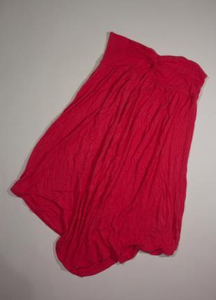 Розовый сарафан-бюстье