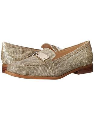 Nine west оригинал золотистые мокасины лоферы туфли бренд оригинал из сша