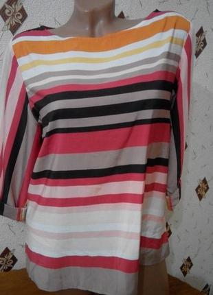 Яркая вискозная блузка 12-14