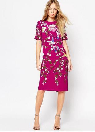 Цельнокройное платье asos с вышивкой