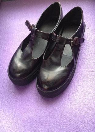 Туфли на платформе/криперы/cлипоны asos