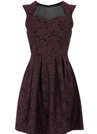 """Гипюровое платье с сеткой """"warehouse"""""""