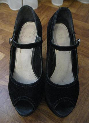 Босоножки женские/черные/высокий каблук/танкетка/платформа/каблук/платформа высокая