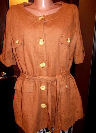 Новый шикарный блейзер пиджак кардиган из льна