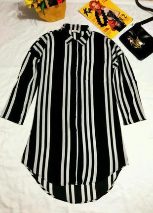 Актуальное платье рубашка 12 размер