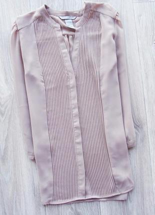 Нежная шифоновая блуза пудрового цвета h&m