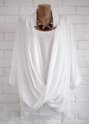 Модная блуза из плтного шифона ava uk26 очень большой размер состояние новой
